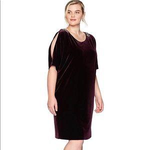 Alex Evenings Plus-Size Dress Cutout Sleeve 22W